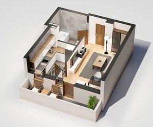Apartament 1 camera, 36 mp, 45.000 euro, Tatarasi - Oancea