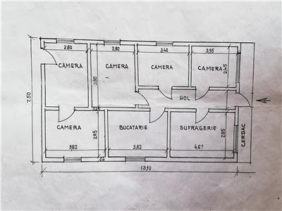 Casa veche cu teren 600 mp, la DN 28