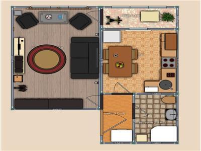 Apartament 1 camera 32mp etaj intermediar Nicolina Kaufland