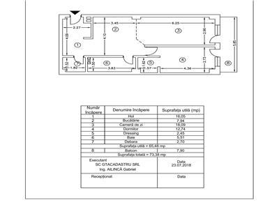 SUPER COPOU 2CD confort 1 sporit 74 mp  etaj intermediar