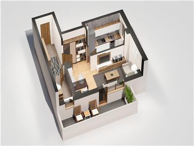 Apartament 1 camera, 32 mp, Tatarasi - Oancea