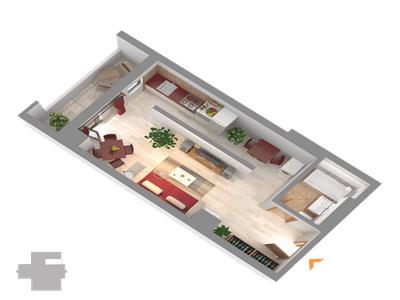 Ultimul apartament cu o camera langa Palas Mall
