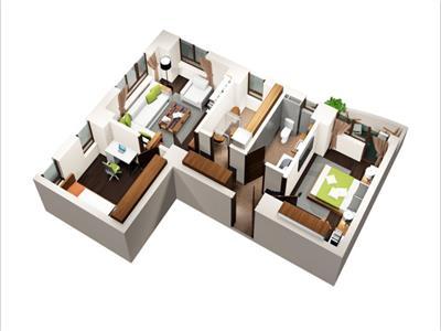 3 camere 60mp etaj intermediar CUG