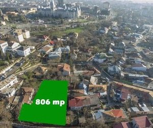 Teren 806 mp in Centru Iasului la 100 metri de bulevardul Stefan
